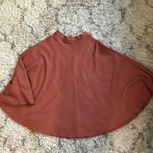 H&M Textured Rust Circle Skirt